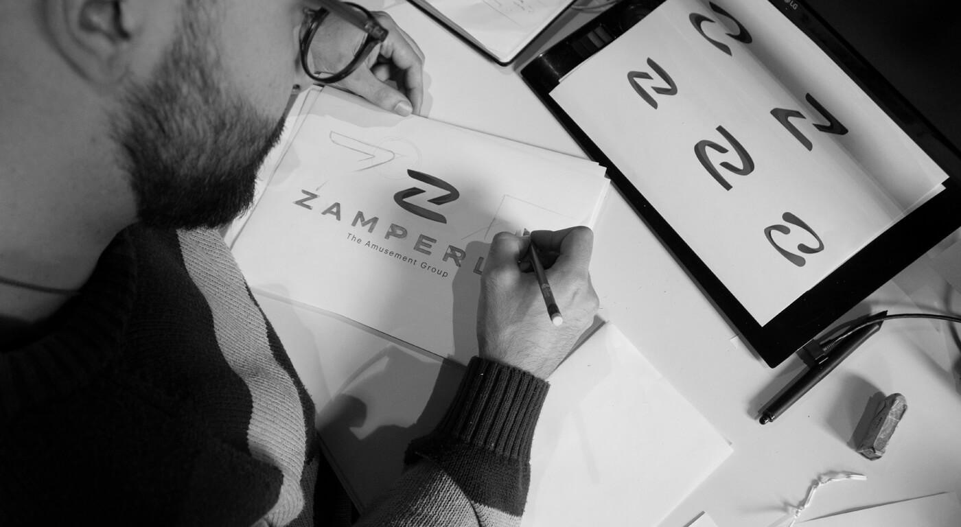 sketch logo Zamperla