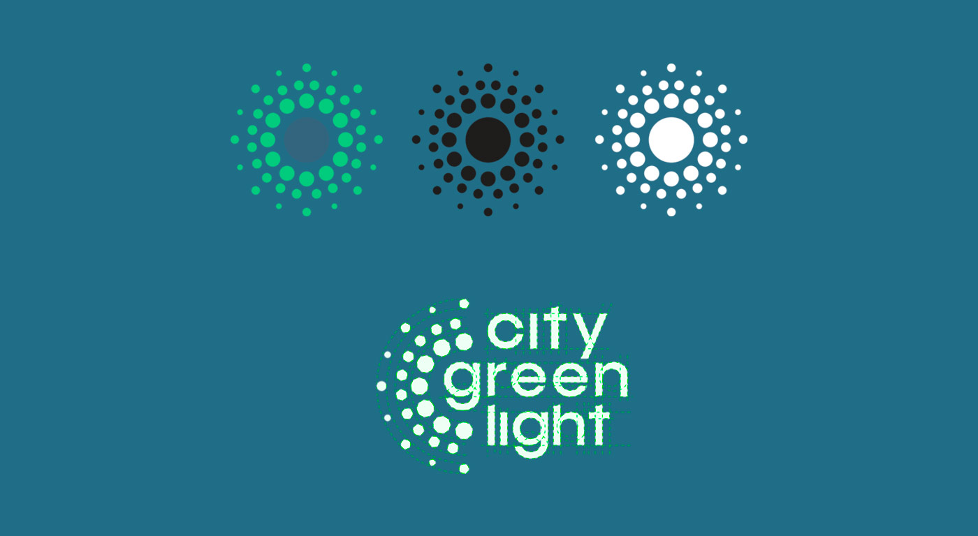 City Green Light Logo creation
