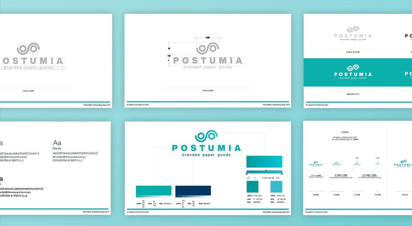 Postumia brand identity