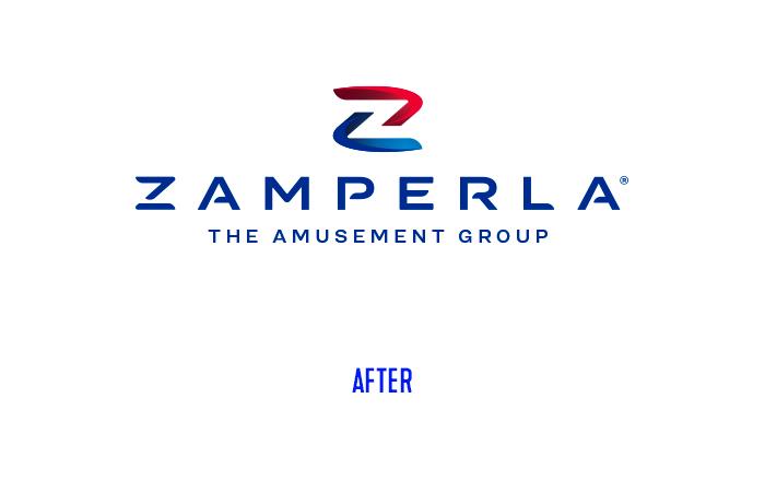 Zamperla logo restyling