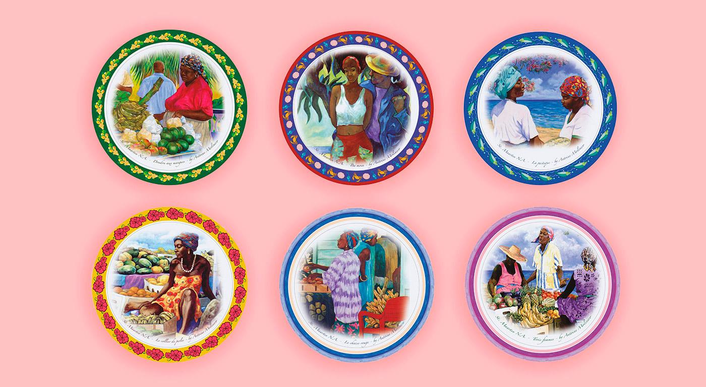 Carousel illustrazioni piatti