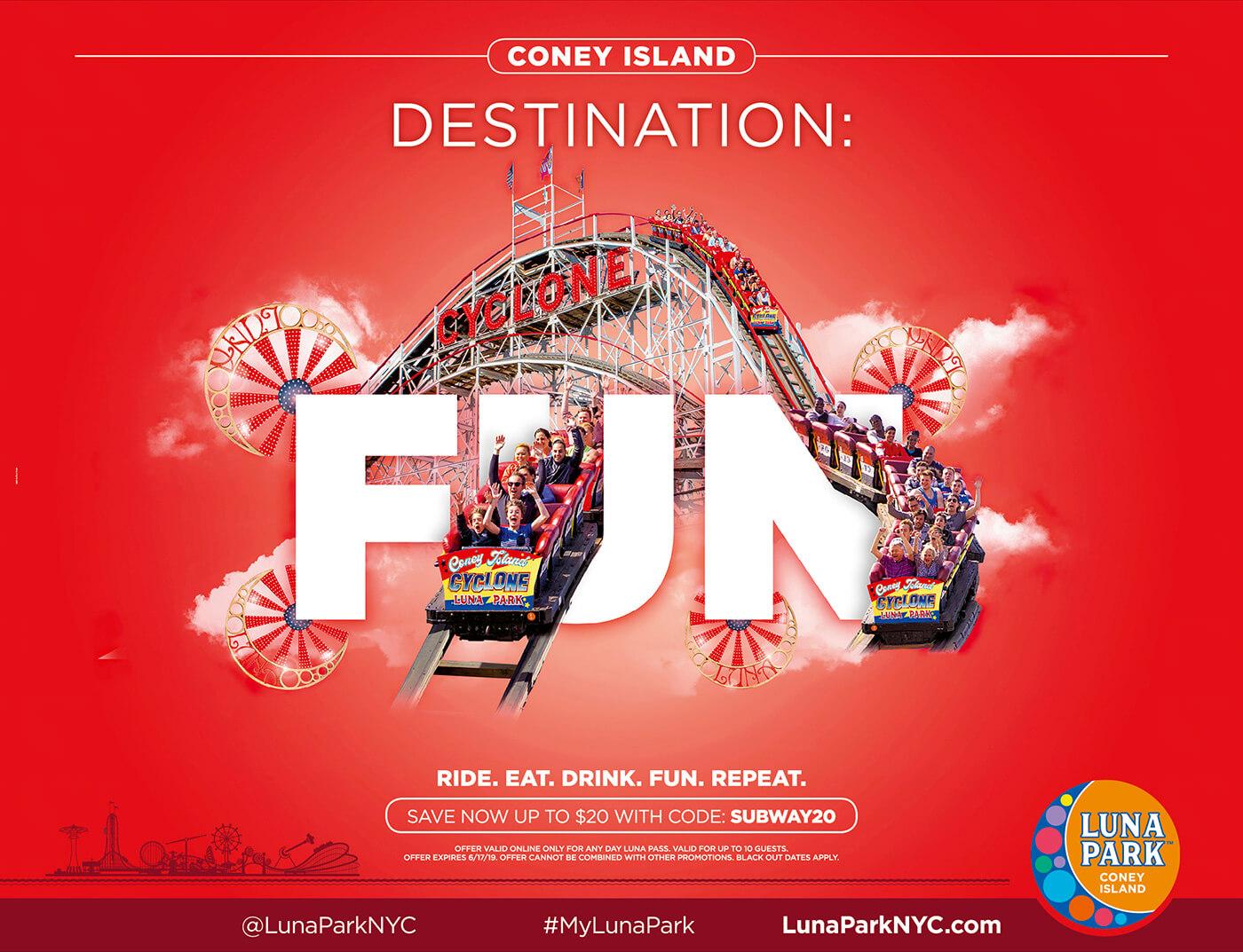 Adv Luna Park - Coney Island Destination: Fun