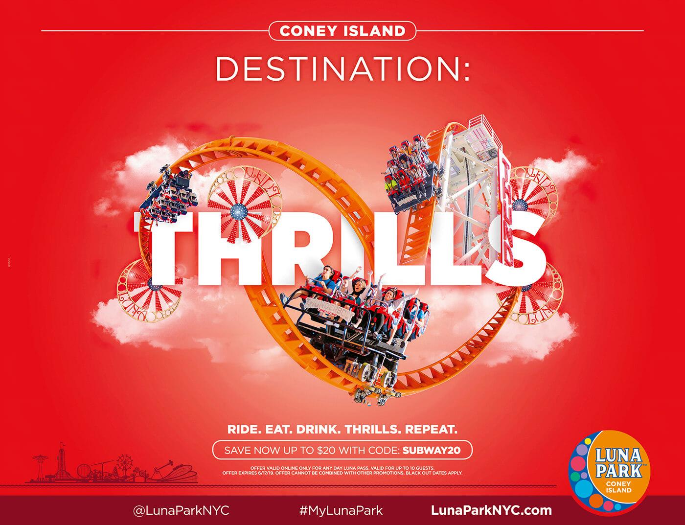 Adv Luna Park - Coney Island Destination: Thrills