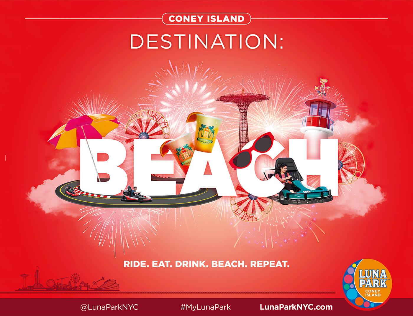 Adv Luna Park - Coney Island Destination: Beach