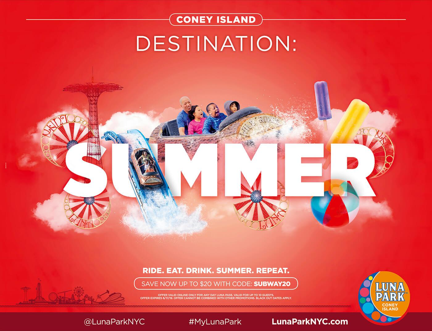 Adv Luna Park - Coney Island Destination: Summer