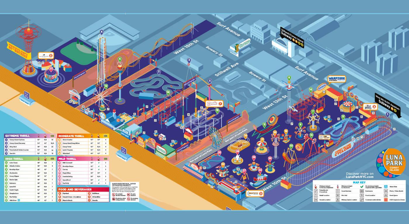 Luna Park mappa parco
