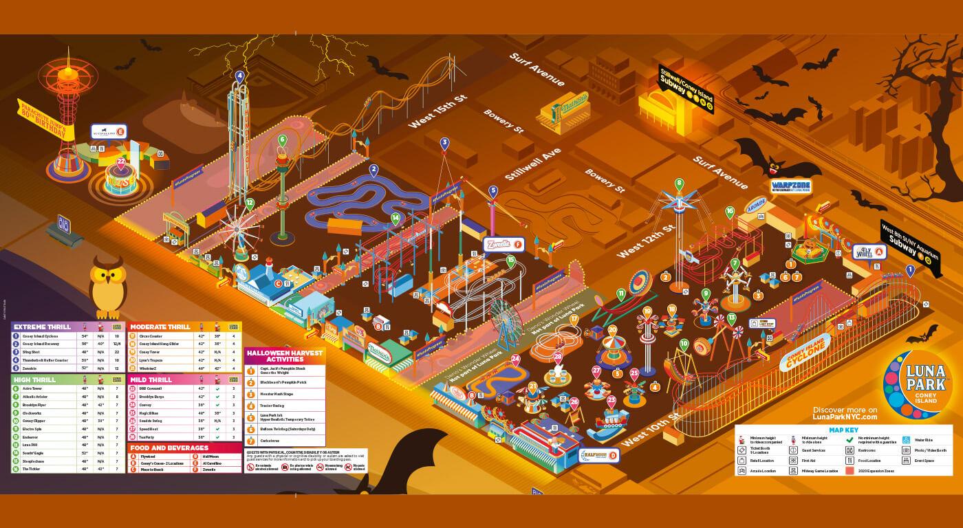 Luna Park mappa halloween