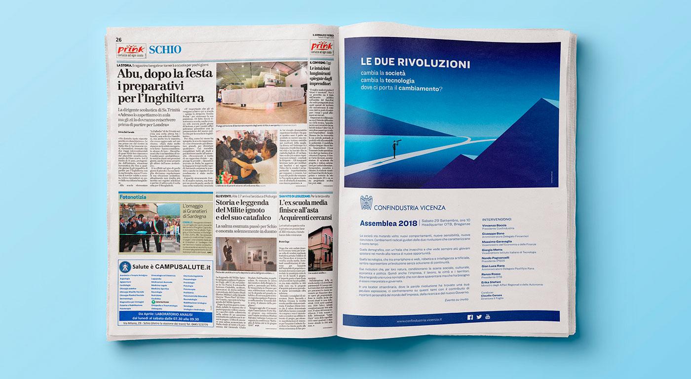 Adv Giornale di Vicenza per Assemblea 2018 Confindustria Vicenza