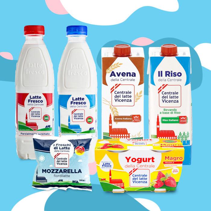 prodotti Centrale del Latte di Vicenza