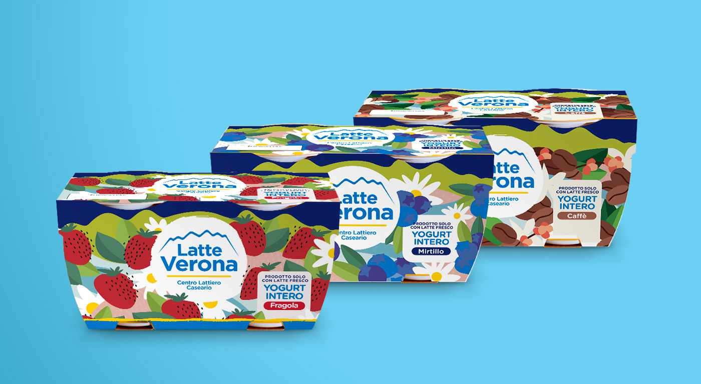 Packaging Yogurt Latte Verona