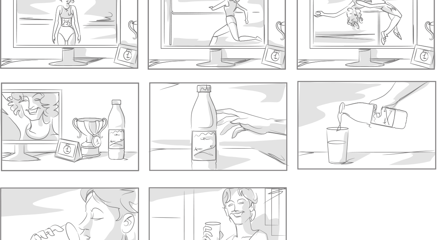 Storyboard spot Latte Verona