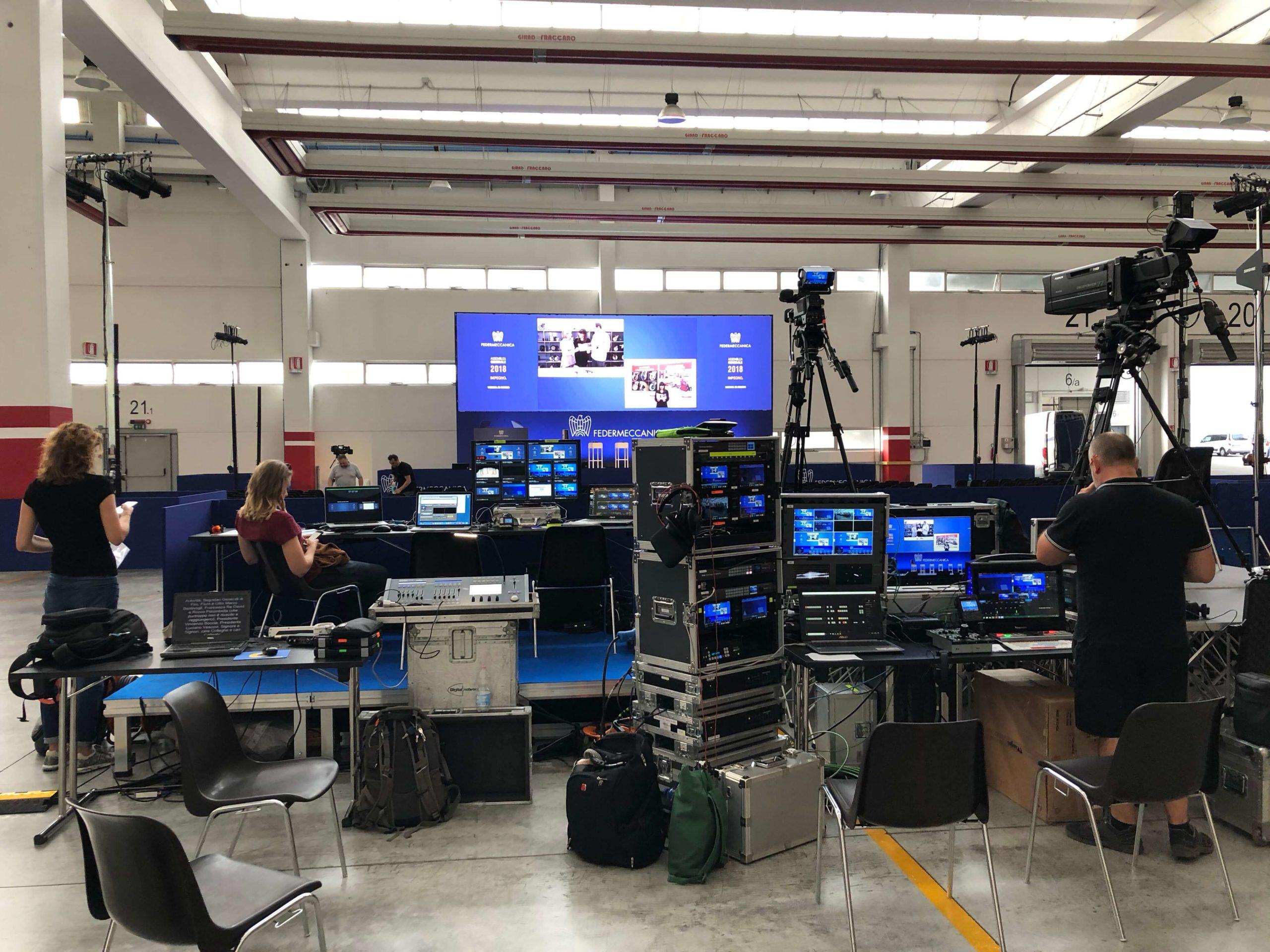 Assemblea generale 2018 Federmeccanica - backstage allestimento evento