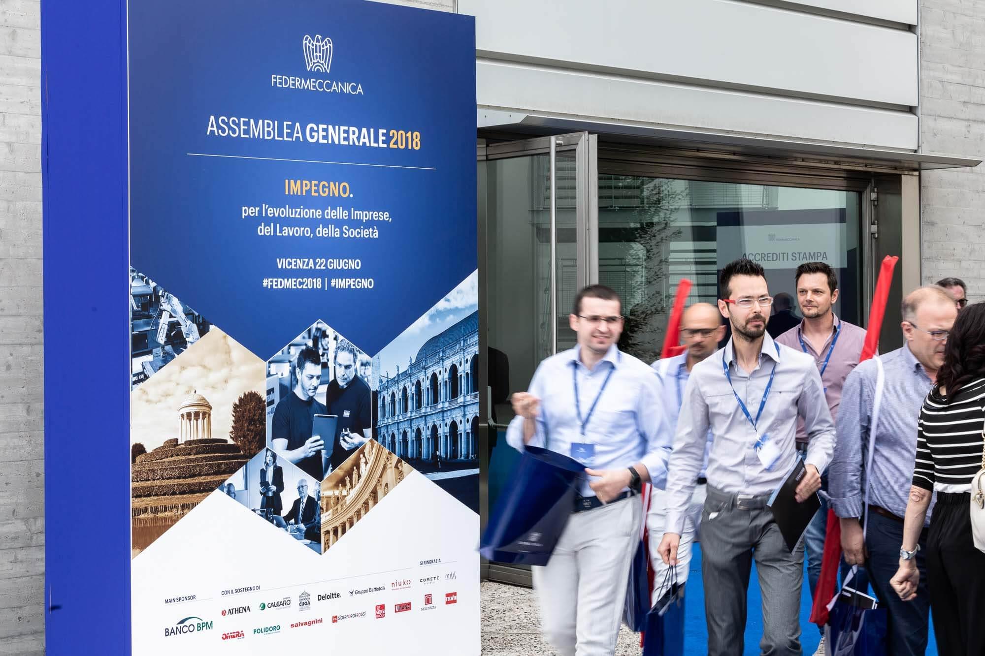 Assemblea generale 2018 Federmeccanica - totem esterno