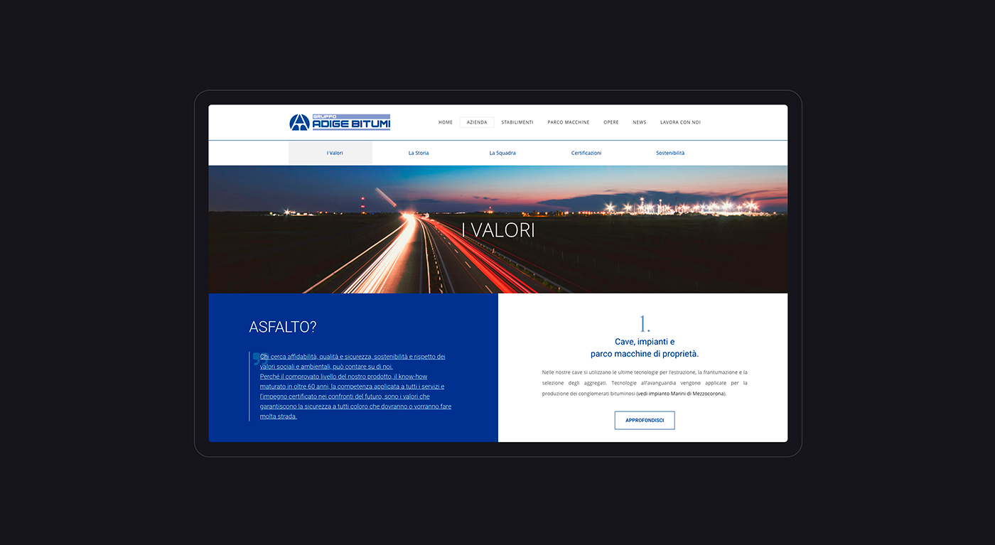 website Gruppo Adige Bitumi