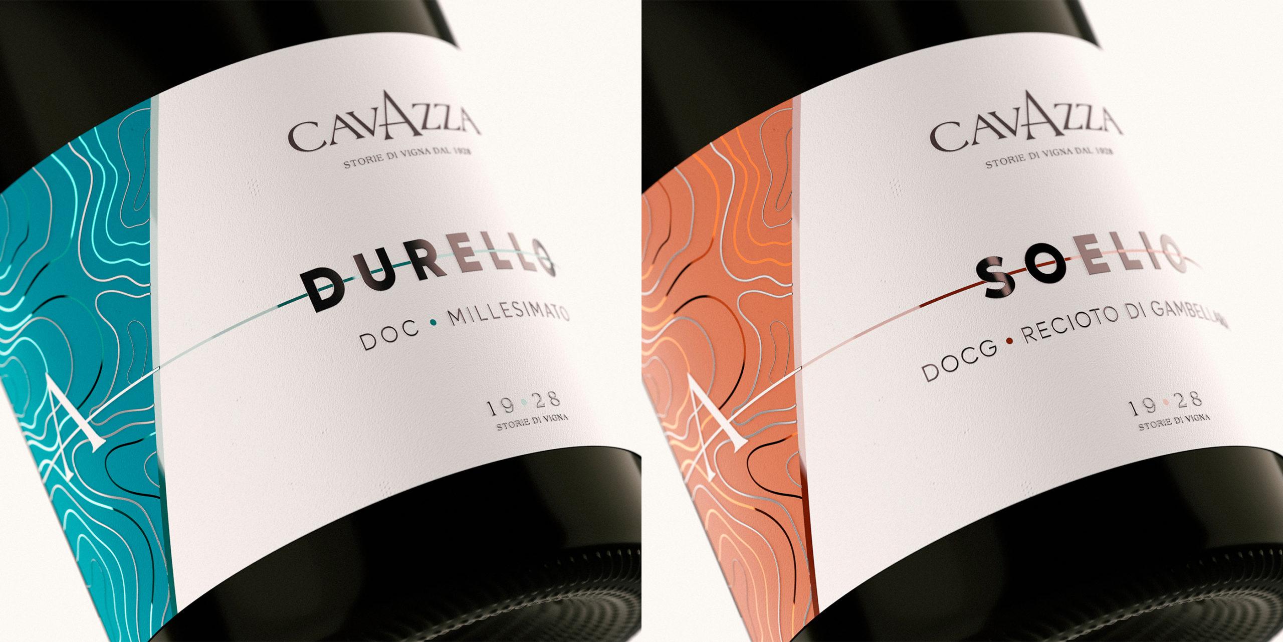 Etichette spumanti Cavazza render close up